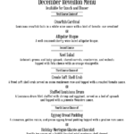 December Reveillon Menu