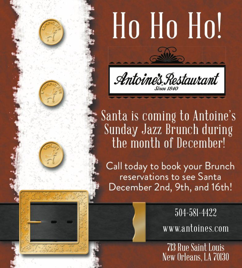 Ho Ho Ho! Santa's Coming to Jazz Brunch!